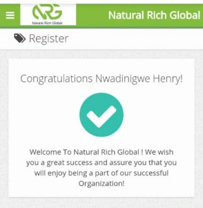 Natural Rich Global Login And How To Get Registered