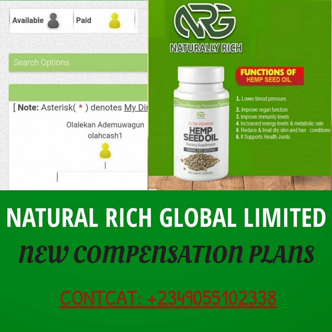Natural Rich Global Brand New Compensation Plan