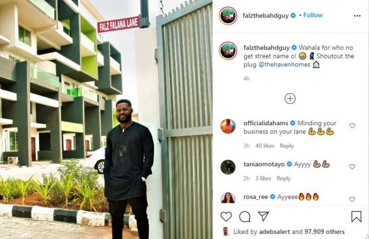 Falz Named After A Street In Lagos Island