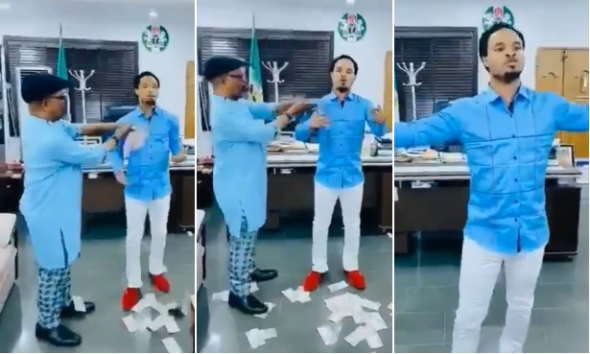 Abia State Chief Of Staff Suspended For Spraying Cash On Odumeje