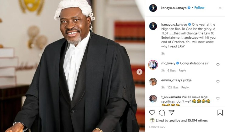 By October You Will Know Why I Read Law – Kanayo O Kanayo Issues Advance Notice