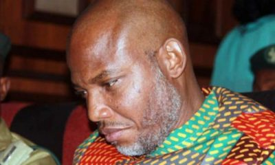 BREAKING: Nnamdi Kanu Arrives Court Amidst Tight Security